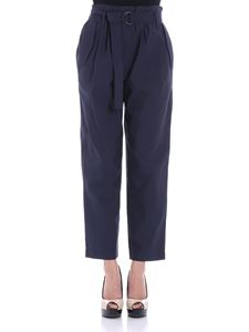Brunello Cucinelli - Blue trousers with belt