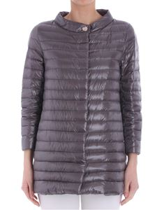 Herno - Flared grey down jacket