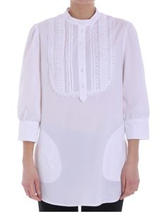 KI6? Who are you? - White blouse with plastron