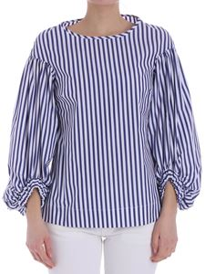 KI6? Who are you? - Blue and white striped blouse