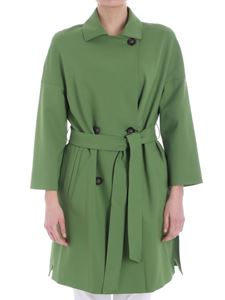 Cinzia Rocca - Green double-breasted coat