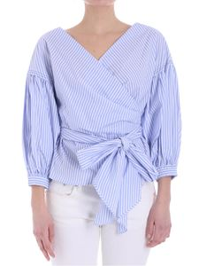 Jucca - Light-blue and blue striped blouse
