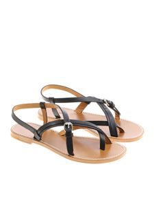 Isabel Marant - Black leather Jingo sandals