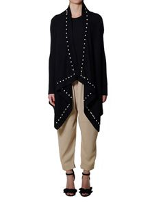 Givenchy - Black cardigan with pearls