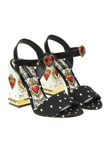 Dolce & Gabbana - Cady sandals with playing cards print