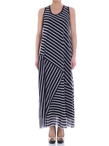 Fuzzi - Blue and white striped dress