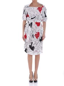 Vivienne Westwood  - White spades and hearts dress