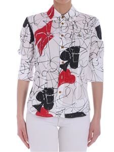 Vivienne Westwood  - White spades and hearts shirt
