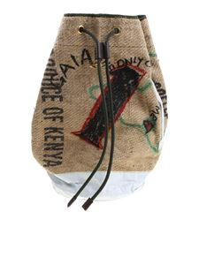 Vivienne Westwood Anglomania - Jute bag with prints
