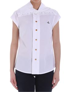 Vivienne Westwood  - White shirt with lace insert