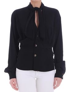 Vivienne Westwood  - Black blouse with bow on the neckline