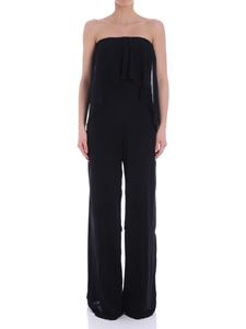 Fuzzi - Black off shoulders jumpsuit