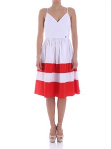 MY TWIN Twinset - White dress with red stripes