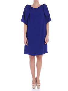 Parosh - Electric blue dress with cut-out