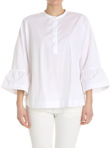 Fay - White blouse with flared sleeves
