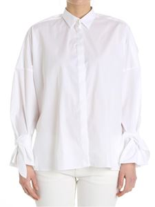 Fay - White shirt with dropped shoulder