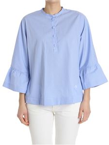 Fay - Light blue and white striped blouse