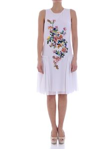 Blugirl - White dress with floral embroidery