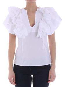 KI6? Who are you? - White top with ruffle details