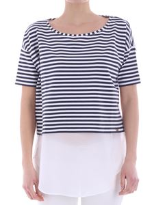 Fay - White and blue striped sweater
