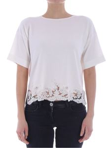 Ermanno by Ermanno Scervino - White top with lace insert