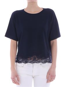 Ermanno by Ermanno Scervino - Blue top with lace insert