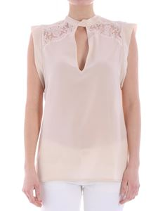 Ermanno by Ermanno Scervino - Beige top with lace inserts