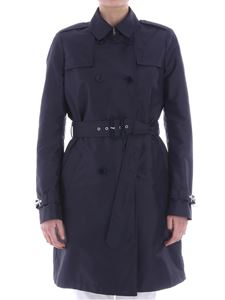 Fay - Blue double-breasted trench