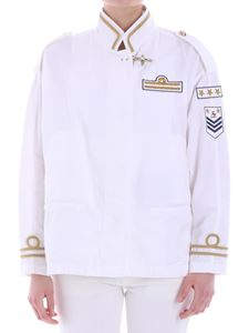 Fay - White jacket with golden embroidery