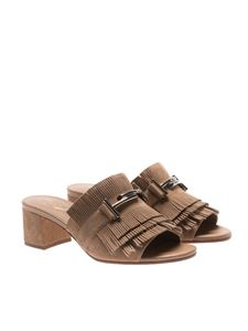 Tod's - Beige sandals with fringes