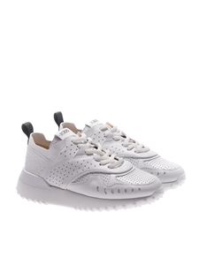 Tod's - White pierced leather sneakers