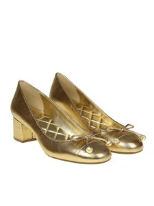 Michael Kors - Golden Gia pumps with pearly inserts