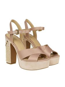 Michael Kors - Pink Sia sandals with golden studs
