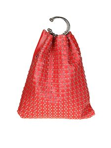 Red Valentino - Leather bag with micro studs