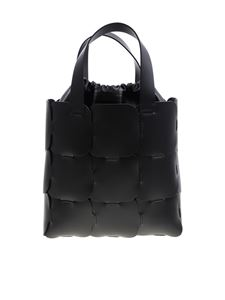 Paco Rabanne - Black leather shoulder bag