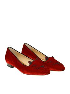 Charlotte Olympia - Red Kitty ballerinas
