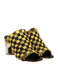 Proenza Schouler - Black and golden raffia sandals