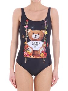 Moschino - Black swimsuit with Teddy bear print