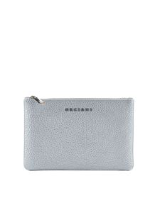 Orciani - Silver leather wallet