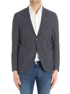 Etro - Blue and white checked jacket