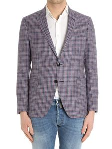 Etro - Blue, red and white tweed jacket