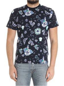 Etro - Blue Indian printed t-shirt