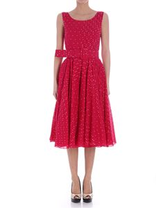Samantha Sung - Fuchsia dress with white polka dots