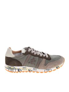 Premiata - Green and taupe Eric sneakers