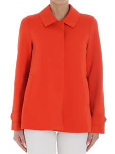 Harris Wharf London - Orange Scuba effect coat