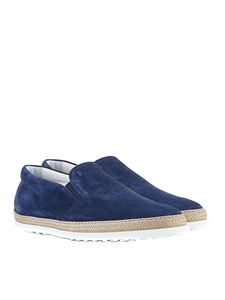 Tod's - Blue suede shoes