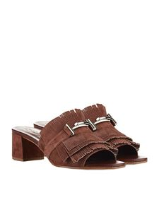 Tod's - Brown sandals with fringes