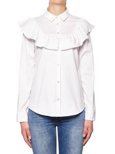 Red Valentino - Cotton shirt with ruffles