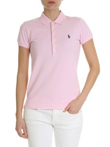 POLO Ralph Lauren - Pink polo shirt with contrasting logo