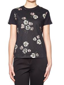 Red Valentino - T-shirt with flowers print and tulle